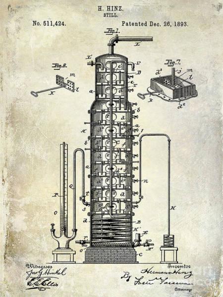 Vintage Patent Drawing - 1893 Still Patent Drawing by Jon Neidert