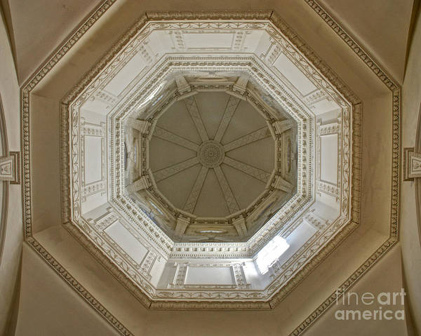 Photograph - 18th Century State House Rotunda Dome by Mark Dodd
