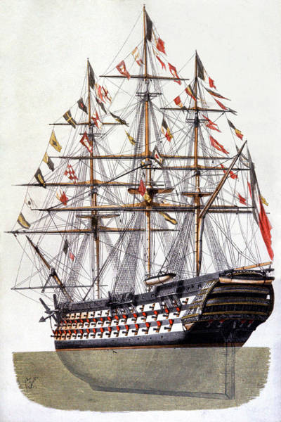 Arte Photograph - 18th Century Warship by Rue Des Archives/cci/science Photo Library