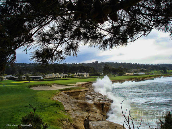 Pebble Beach Golf Course Photograph - 18th Hole by Lidia Anderson