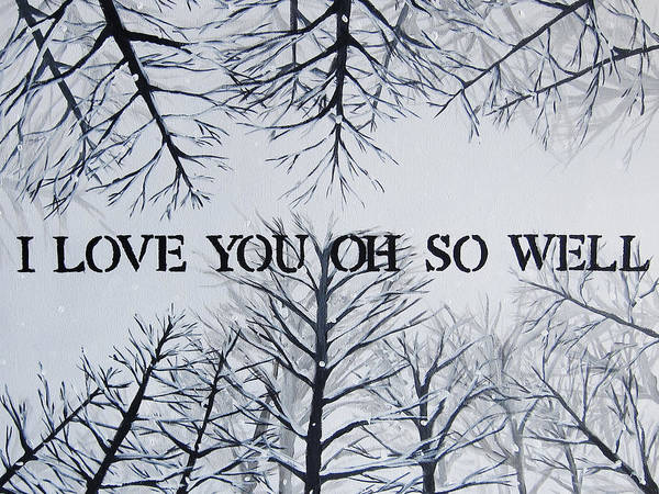 Oh Wall Art - Painting - 18x24 I Love You Oh So Well by Michelle Eshleman