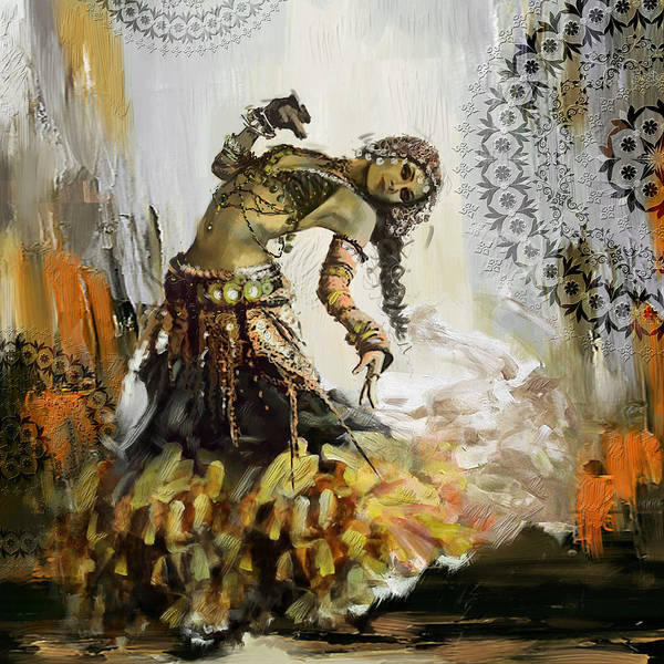 Belly Dance Painting - Abstract Belly Dancer 5 by Corporate Art Task Force
