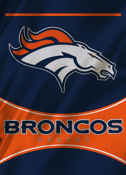 Super Photograph - Denver Broncos Uniform by Joe Hamilton