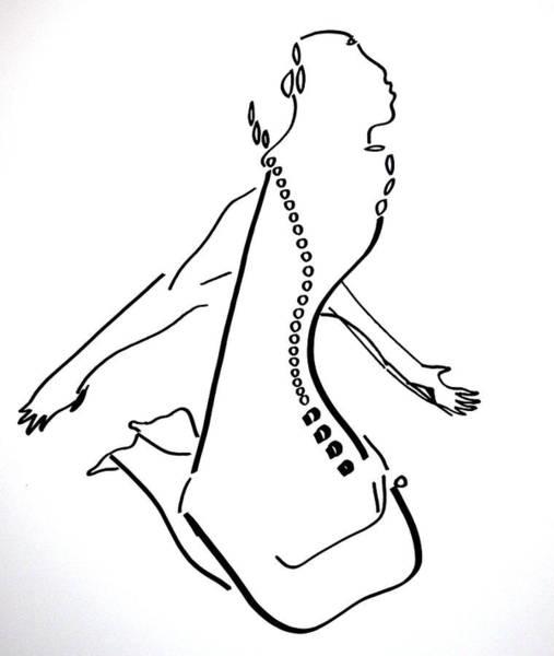 Dinka People Drawing - Dinka Dance - South Sudan by Gloria Ssali