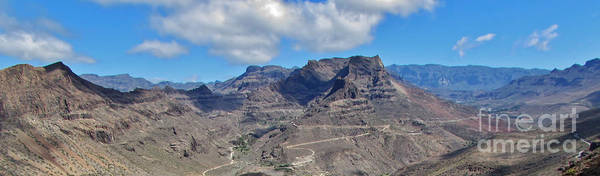 Wall Art - Photograph - Landscape-canarian Volcanic Mountains by Bozena Simeth