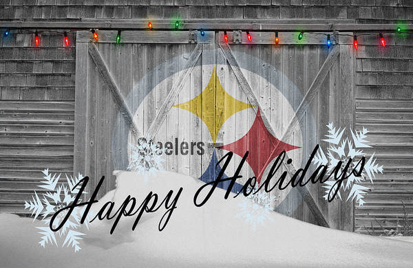 Santa Photograph - Pittsburgh Steelers by Joe Hamilton