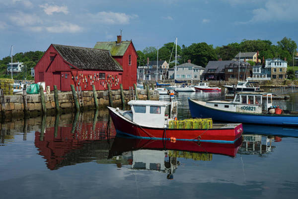 Wall Art - Photograph - Usa, Massachusetts, Cape Ann, Rockport by Walter Bibikow