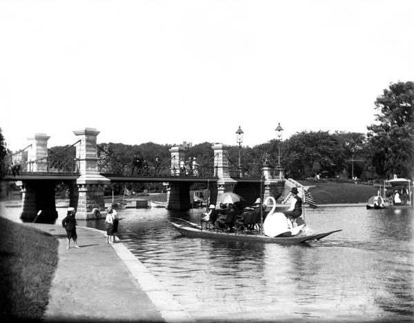 Swan Boats Photograph - 1900 Boston Swan Boats by Historic Image