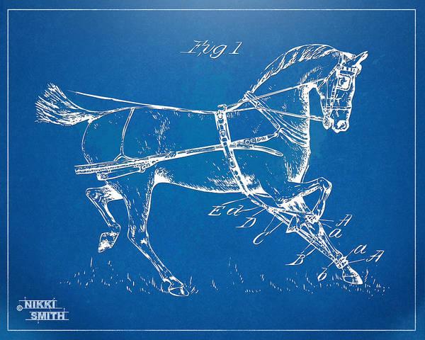 18th Century Digital Art - 1900 Horse Hobble Patent Artwork by Nikki Smith