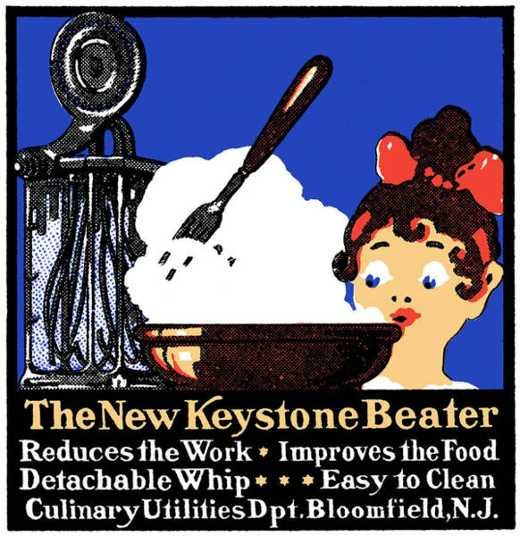 Whipped Cream Painting - 1900 Keystone Beater by Historic Image