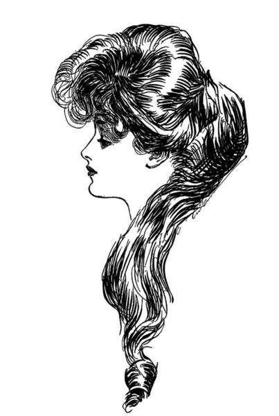 Turn Of The Century Wall Art - Painting - 1900s 1898 Profile Sketch Turn by Vintage Images