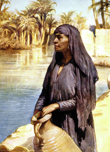 Nile Painting - 1900s 1902 Illustration Egyptian Woman by Vintage Images
