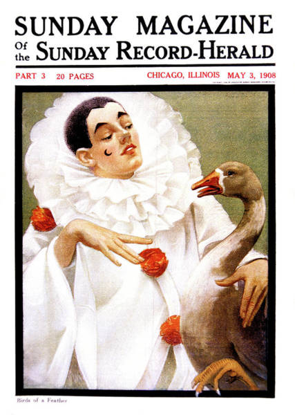Vintage Chicago Painting - 1900s Chicago Sunday Magazine Cover by Vintage Images