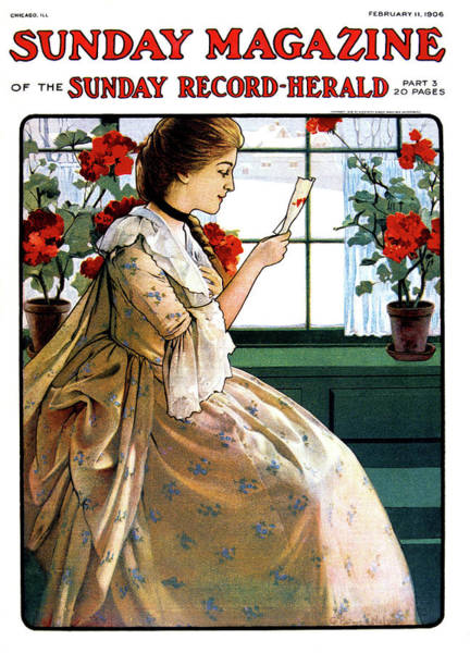 Style Painting - 1900s Woman Wearng Edwardian Dress by Vintage Images
