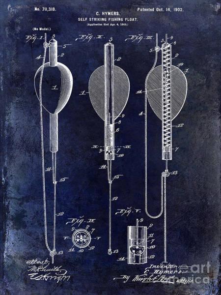 1902 Self Strike Fish Float Patent Art Print