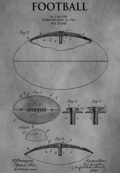 Nfl Drawing - 1903 Football Patent by Dan Sproul