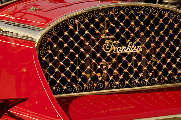 Auto Show Photograph - 1904 Franklin Open Four Seater Grille Emblem by Jill Reger