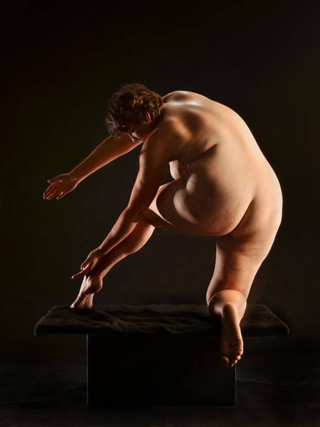 Photograph - 1905 Full Figured Nude  by Chris Maher