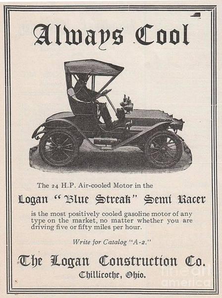 1905 Logan Automobile Poster Art Print