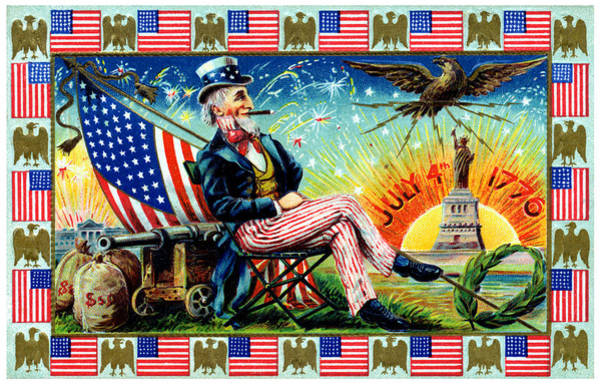 Uncle Sam Painting - 1905 Uncle Sams 4th Of July Party by Historic Image