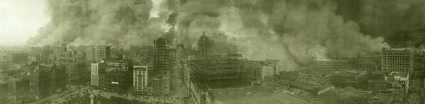 Wall Art - Photograph - 1906 San Francisco Earthquake Fire by Library Of Congress/science Photo Library