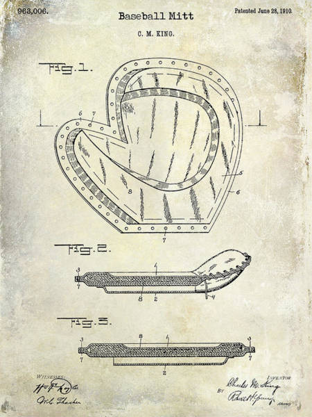 Wall Art - Photograph - 1910 Baseball Patent Drawing by Jon Neidert