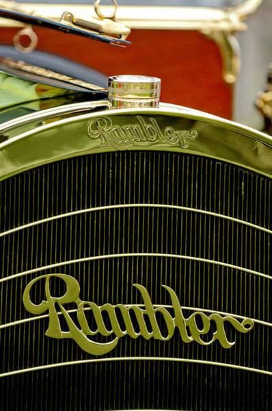 Photograph - 1910 Rambler Model 54 5 Passenger Touring Hood Ornament by Jill Reger