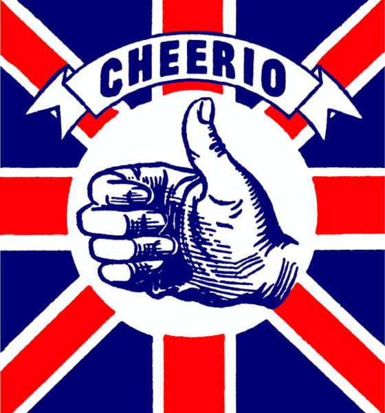 Thumb Painting - 1910 Union Jack Cheerio by Historic Image