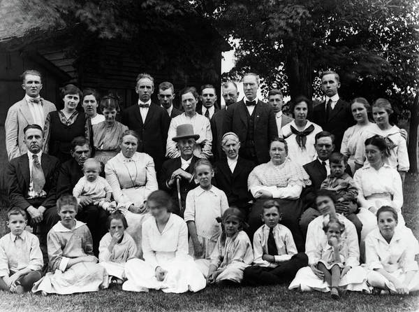 Relative Photograph - 1910s Group Portrait Of Large Extended by Vintage Images