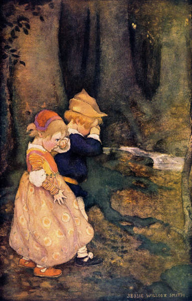 Excitement Painting - 1910s Illustration Hansel And Gretel by Vintage Images