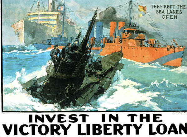 Excitement Painting - 1910s World War One Victory Liberty by Vintage Images