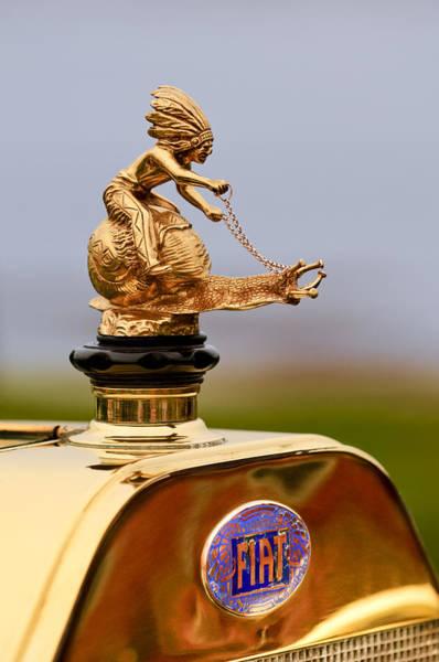 1911 Photograph - 1911 Fiat Tipo 6 Holbrook 4 Passenger Demi-tonneau Hood Ornament by Jill Reger