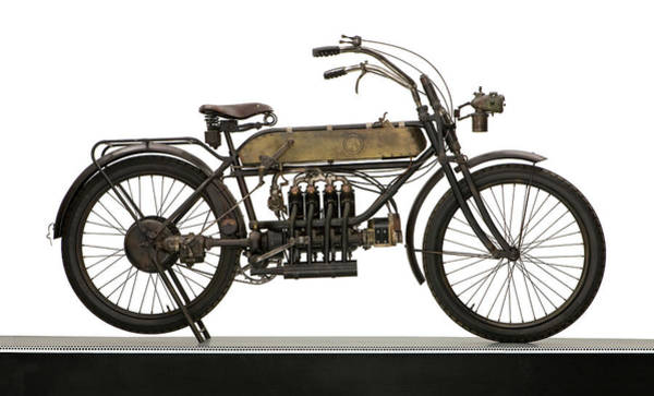 Fn Photograph - 1911 Fn 498cc Four Motorcycle by Panoramic Images
