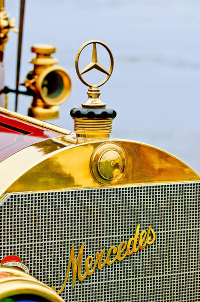 Mercedes Photograph - 1911 Mercedes 50 Hp Maythorn Tourer Hood Ornament by Jill Reger