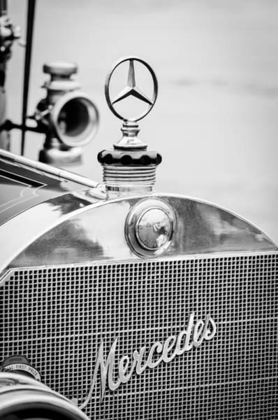 1911 Photograph - 1911 Mercedes-benz 50 Hp Maythorn Tourer Hood Ornament by Jill Reger