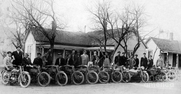 Victory Motorcycle Photograph - 1912 Harley Motorcycle Club by Jon Neidert