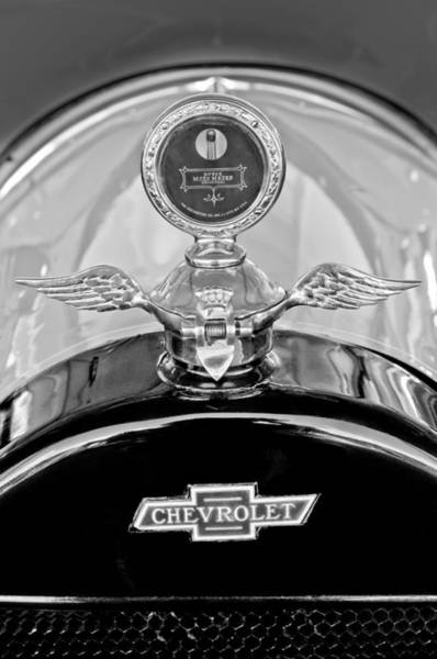 Touring Photograph - 1915 Chevrolet Touring Hood Ornament - Moto Meter by Jill Reger