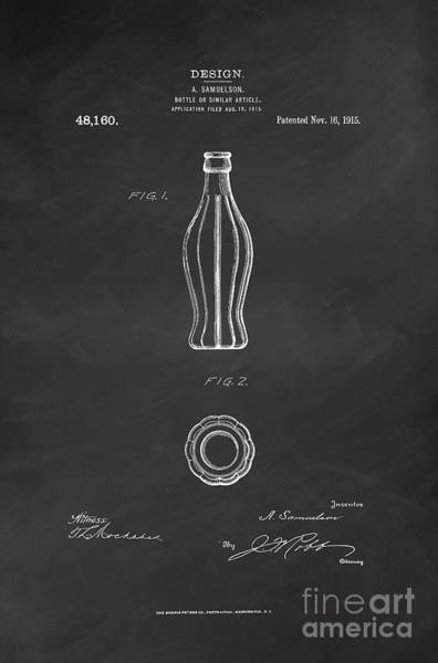 Wall Art - Digital Art - 1915 Coca Cola Bottle Design Patent Art 6 by Nishanth Gopinathan