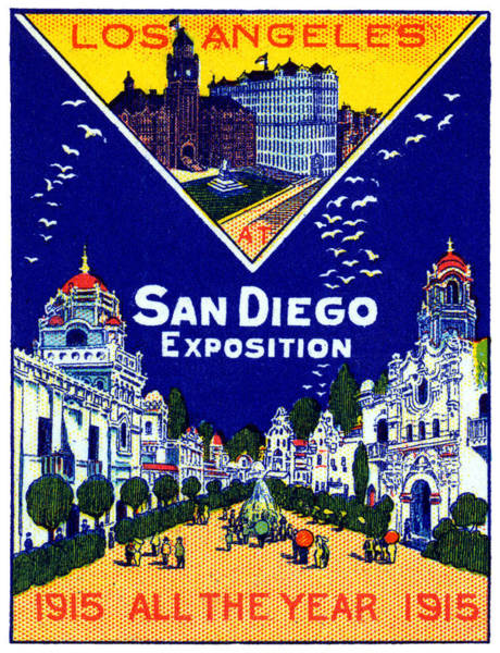 County Fair Painting - 1915 Los Angeles At San Diego Expo by Historic Image
