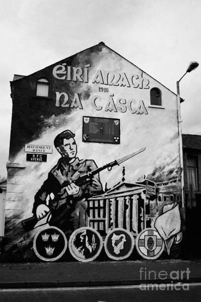 Wall Art - Photograph - 1916 Dublin Easter Rising Commemoration Republican Wall Mural Beechmount Rpg Belfast by Joe Fox