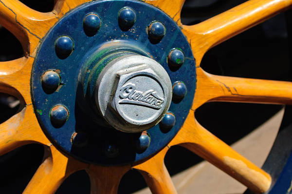 Photograph - 1916 Willys Overland Model 86 Wheel Emblem by Jill Reger