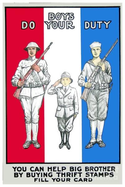 War Bonds Digital Art - 1917 - United States War Bonds Poster - World War One - Color by John Madison