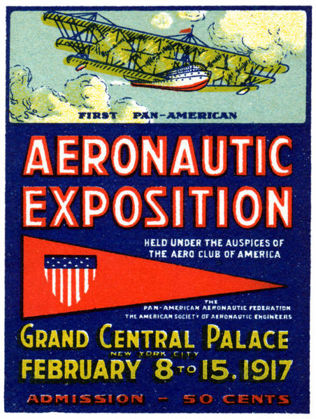 Grand Central Painting - 1917 Aviation Exposition by Historic Image