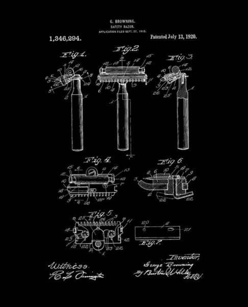 Digital Art - 1920 Razor Browning Inverted by Lesa Fine