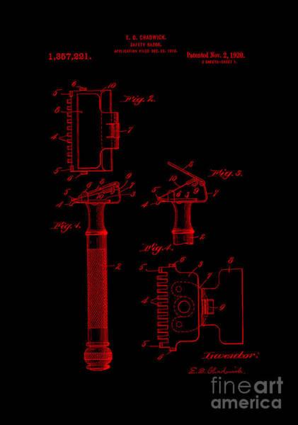 Digital Art - 1920 Razor Chadwick Red by Lesa Fine