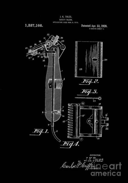 Digital Art - 1920 Razor Toles Inverted by Lesa Fine