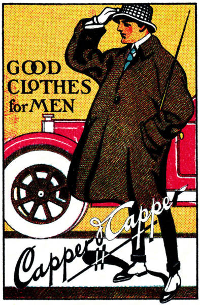 Vintage Chicago Painting - 1920's Vintage Men's Clothing by Historic Image