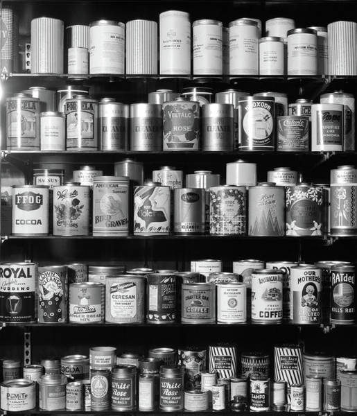 Wall Art - Photograph - 1920s 1930s 1940s Tin Cans by Vintage Images