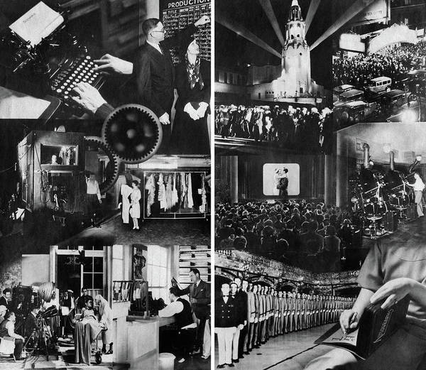 Wall Art - Photograph - 1920s 1930s Montage Of Motion Picture by Vintage Images