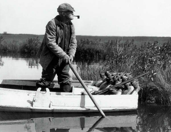Duck Hunt Photograph - 1920s 1930s Senior Man Duck Hunter by Animal Images
